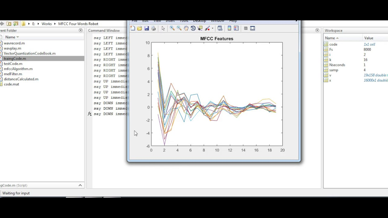 MFCC Matlab Speech Recognition
