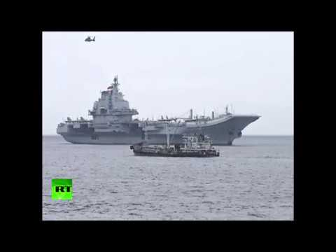 RAW: Chinese aircraft carrier Liaoning enters Hong Kong waters