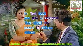 Tere Husn Ki KyaTaarif Karun Hindi karaoke for Male singers with lyrics