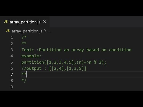 Partition an Array based on condition   Very important JavaScript tips and tricks