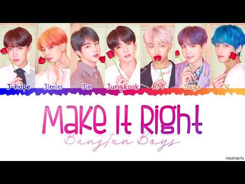 BTS (방탄소년단) - 'Make It Right' Lyrics [Color Coded