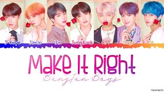 Download BTS (방탄소년단) - 'Make It Right' Lyrics [Color Coded Han_Rom_Eng]