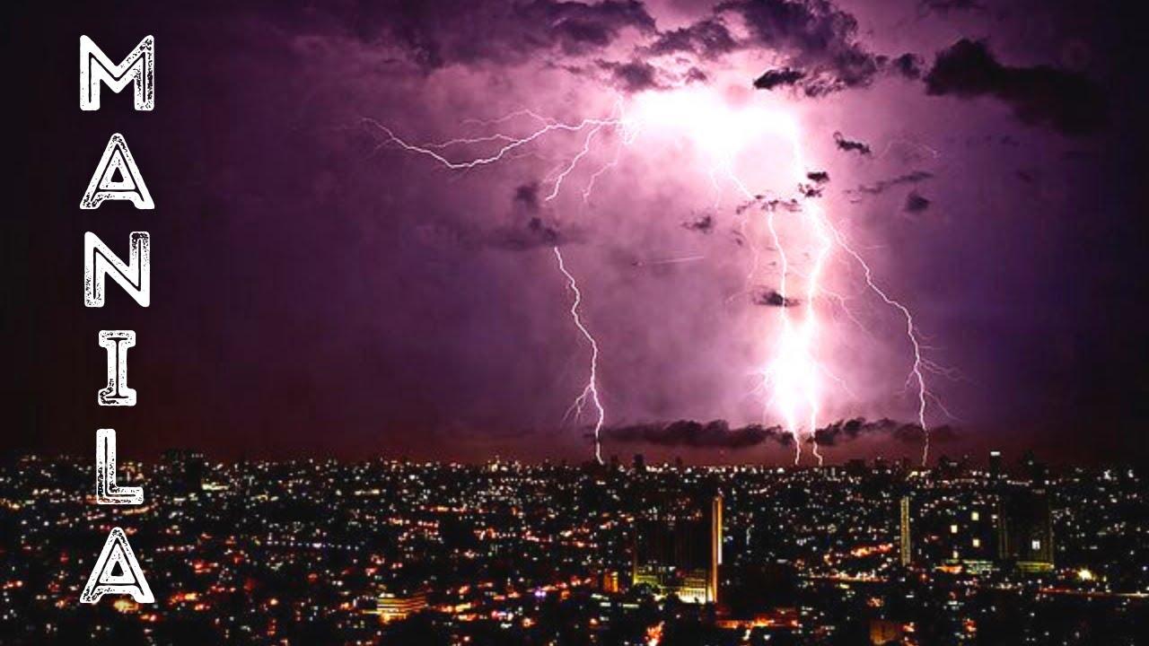 Manila Philippines Timelapse City Landscape Weather & Lightning Storm 2021