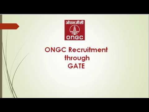 ONGC Recruitment thru GATE