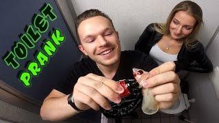 EXTREME TOILET Prank! (Fire gun, bloody condom)