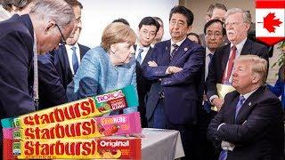 Trump threw Starbursts at Merkel during G7 summit - TomoNews