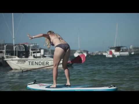 Caroline Wozniacki Paddleboarding in Balmoral | Apia International Sydney 2017