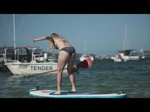 Caroline Wozniacki Paddleboarding in Balmoral   Apia International Sydney 2017