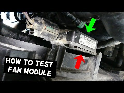 How To Test Radiator Fan Module Control Box Youtube