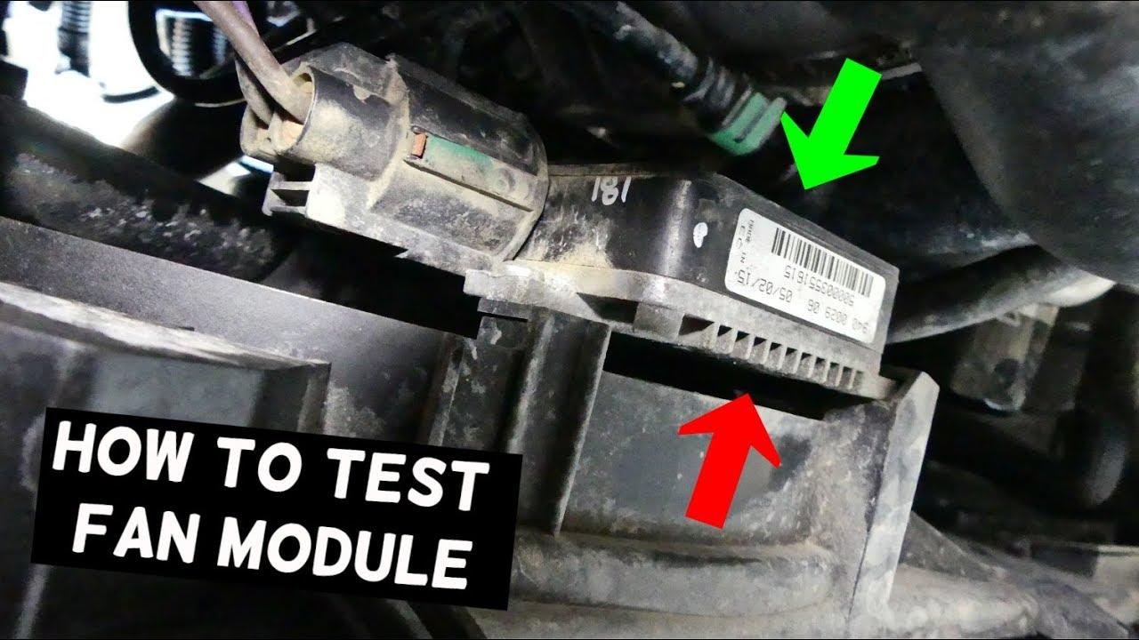 HOW TO TEST RADIATOR FAN MODULE CONTROL BOX  YouTube