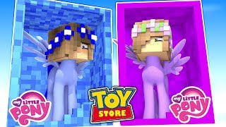 LITTLE CARLY IS A MY LITTLE PONY! (Minecraft ToyStore).