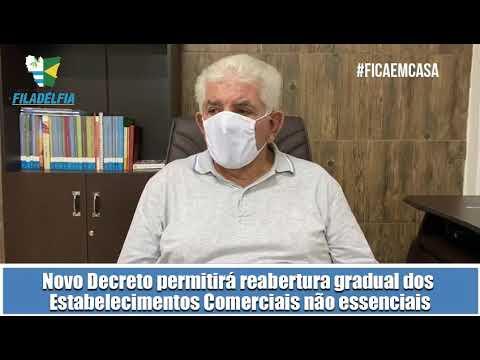 PREFEITURA DE FILADÉLFIA PUBLICARÁ NOVO DECRETO NAS PRÓXIMAS HORAS, PERMITINDO A REABERTURA GRADUAL DOS ESTABELECIMENTOS COMERCIAIS NÃO ESSENCIAIS