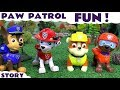 Paw Patrol Funny Game with Mashems   Disney Cars Minions and Peppa Pig Kids Toys Fun Play