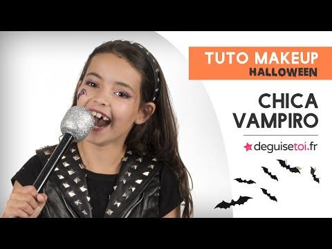 Tuto maquillage Halloween enfant Chica Vampiro™