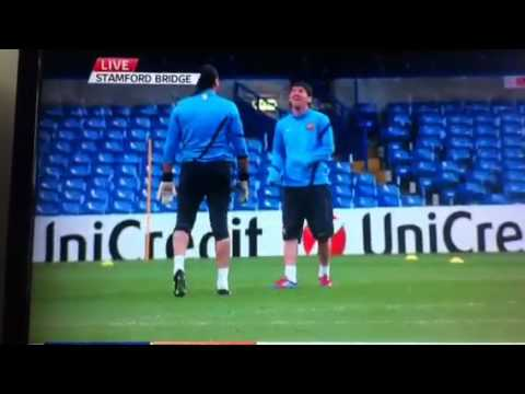 Messi and Goalkeeper great skill