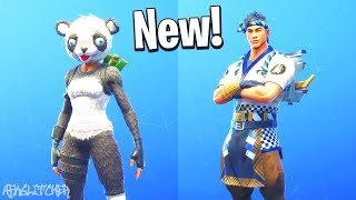 *NEW* PANDA TEAM LEADER + SUSHI MASTER SKINS ! Fortnite Battle Royale