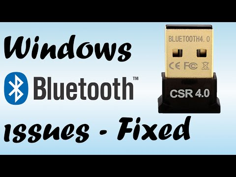 How To Fix Bluetooth Not Working In Windows 10 (CSR USB Not Detected)