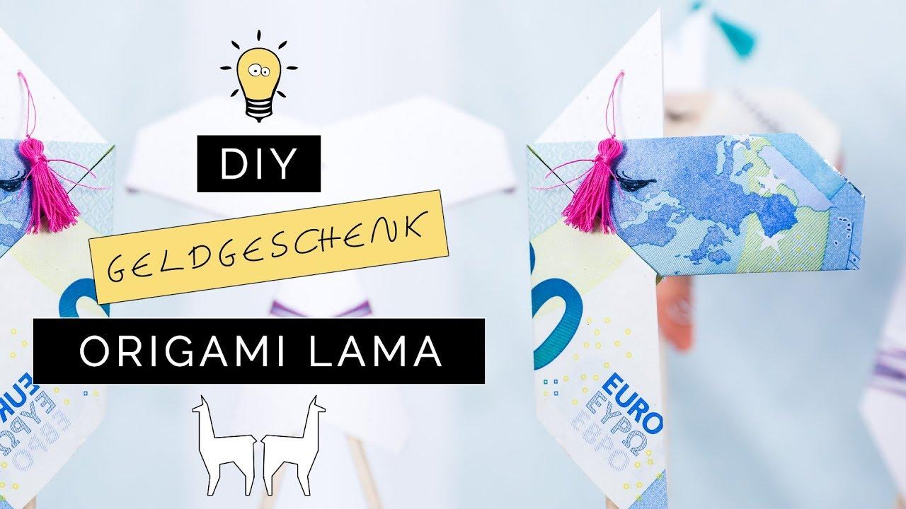 Origami Lama Aus Geldscheinen Falten Kreative Geschenkidee