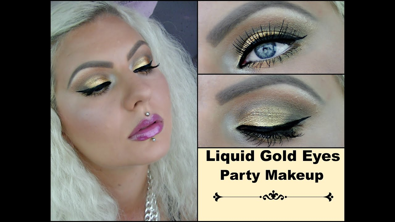 Gold eyeshadow party makeup tutorial cruelty free cosmetics gold eyeshadow party makeup tutorial cruelty free cosmetics youtube baditri Image collections