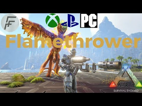 ARK: Survival Evolved How to spawn the flamethrower and ammo