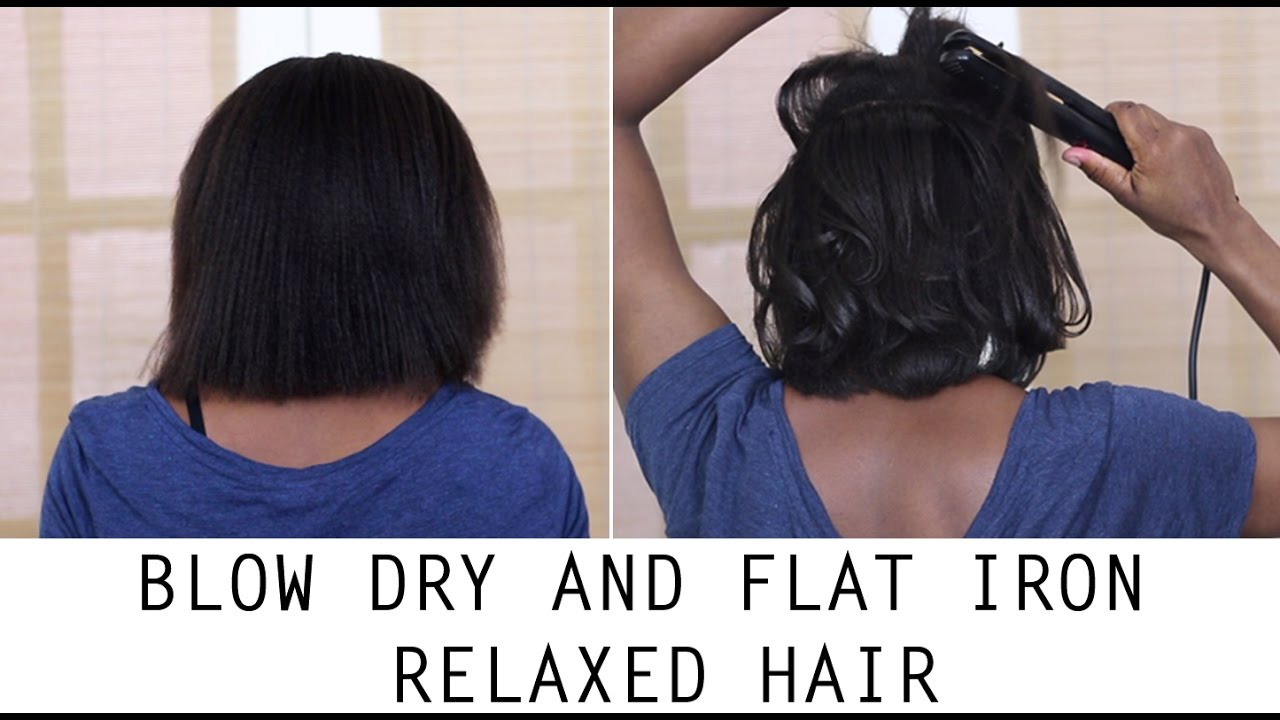 how i blow dry, flat iron & wrap my short relaxed/texlaxed hair (recovery mode) genie