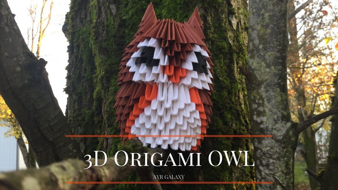 3D Modular Origami Owl - YouTube - photo#7
