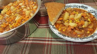 Hamburger Soup (Quick Version - Recipe Only)  The Hillbilly Kitchen