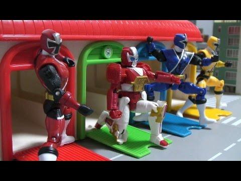 파워레인저 닌자포스 장난감 본부출동놀이 power rangers ninja steel center