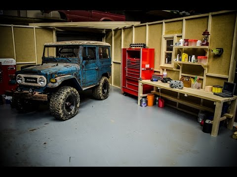 New scale accessories for the scale crawler garage youtube for Garage costruito case