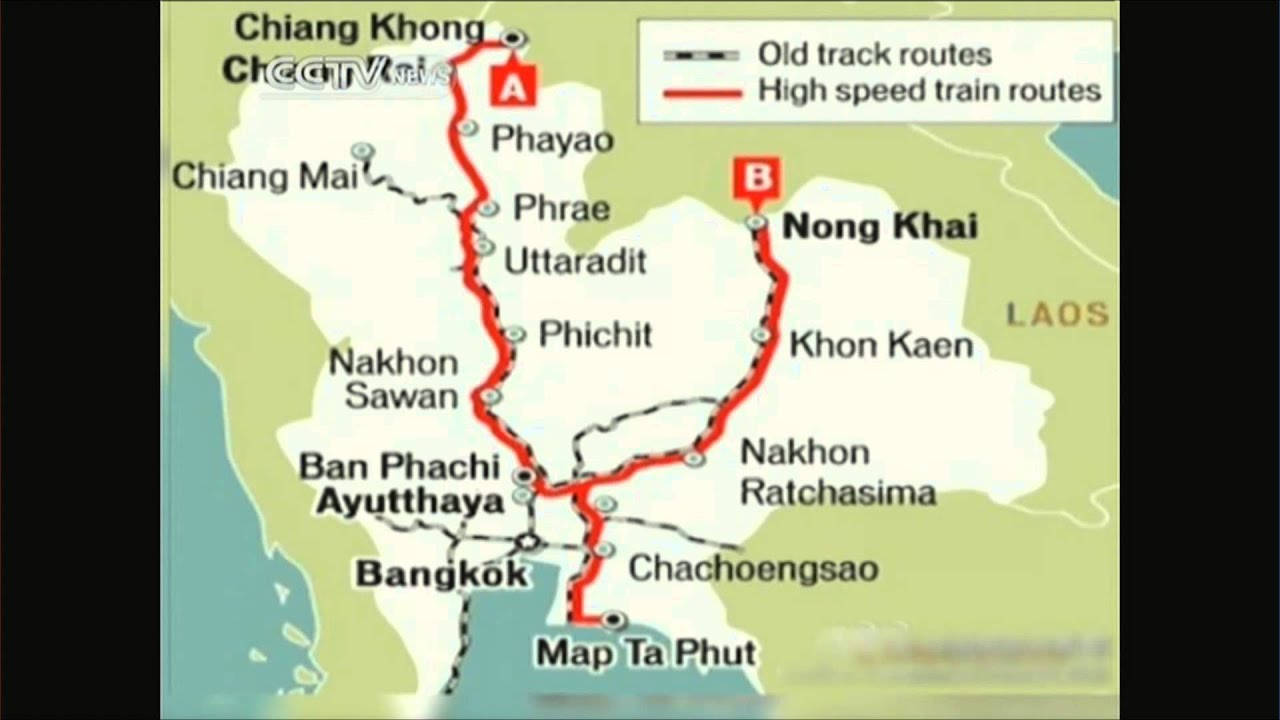 Nong Khai Thailand Map.High Speed Train To Link China Thailand Youtube