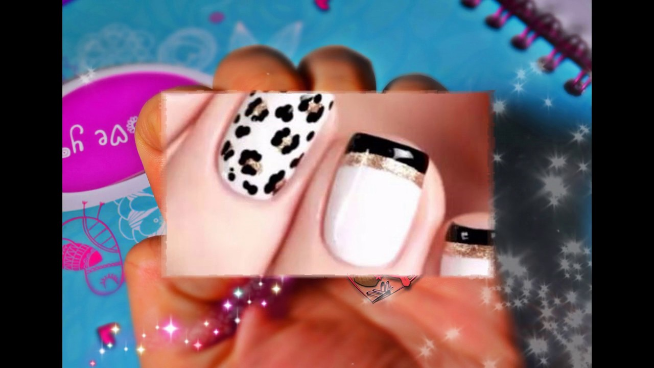 Uñas Decoradas Con Frances Sencillas Y Bonitas Youtube