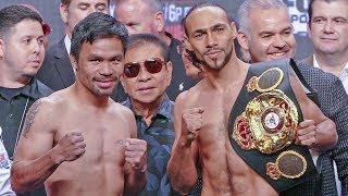 Manny Pacquiao vs. Keith Thurman FULL WEIGH IN & FINAL FACE OFF | Las Vegas Boxing