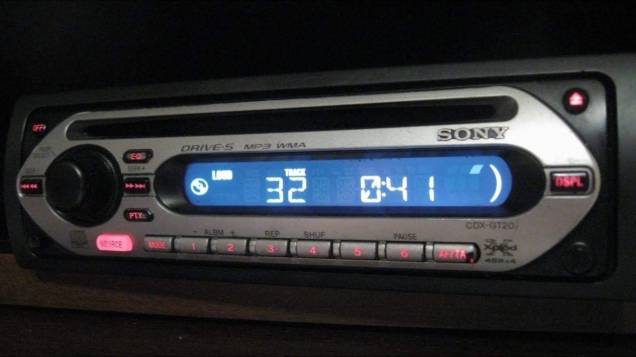 Bardzo dobryFantastyczny SONY CDX-GT20 XPLOD CD/MP3 Radio samochodowe/Car radio - YouTube GV71
