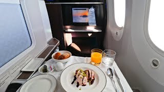 My Favorite Business Class (So Far)   OMAN AIR - Muscat to Frankfurt Boeing 787-9