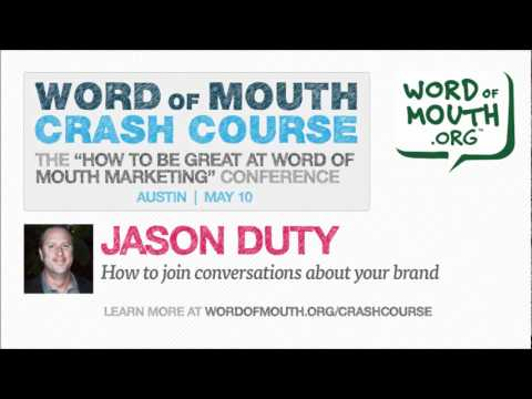 How to join conversations about your brand -- live with Jason Duty