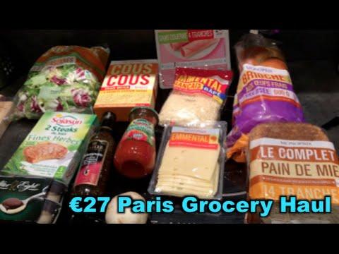 €27 Paris Grocery Haul - Sojasun Vegetarian, After Eight Mint Pudding, yum!
