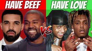 RAPPERS WHO GOT BEEF vs RAPPERS WHO LOVE EACH OTHER! (2021)