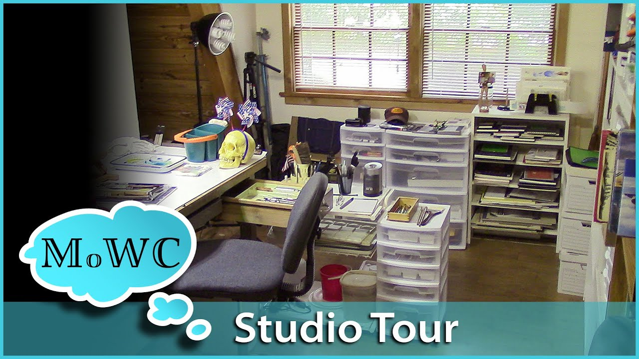 Art Studio Tour U2013 My Watercolor Painting Space   YouTube