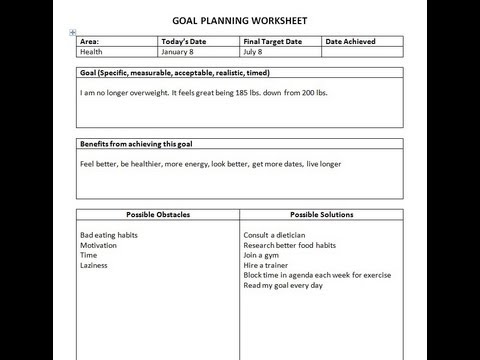 Printables Brian Tracy Goals Worksheet how to achieve any goal using a planning worksheet youtube worksheet