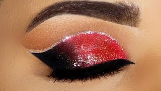 Double Cut Crease Glitter Makeup Tutorial