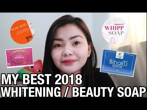 MY 2018 BEST WHITENING/ SOAPS | MY FAVORITES