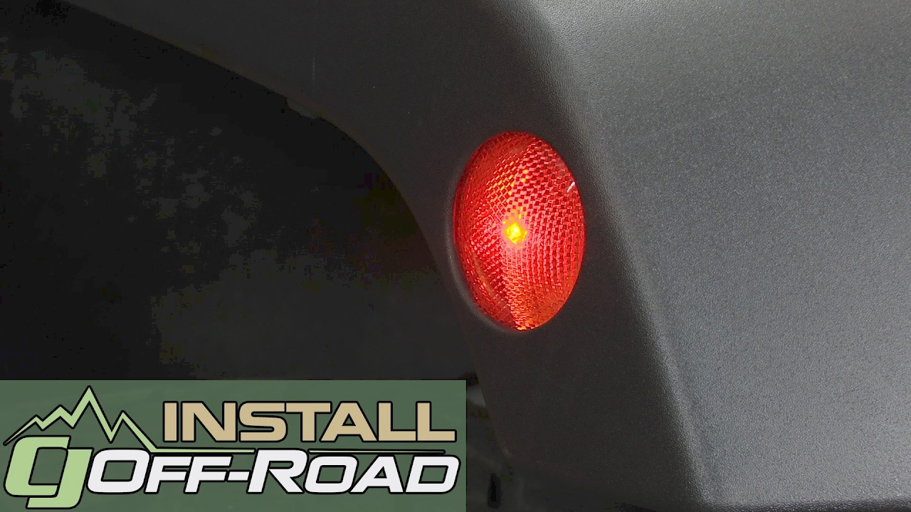 jeep wrangler jk diode dynamics front side marker light bulb led amber pair 2007 2018 installation [ 1280 x 720 Pixel ]