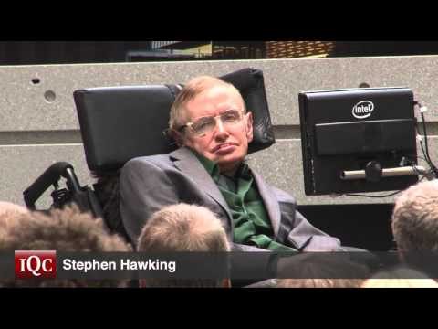 Stephen Hawking helps launch the Quantum-Nano Centre at the University of Waterloo