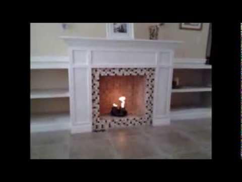 Fire Test Homemade Gel Fuel Fireplace - YouTube