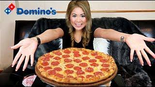 DOMINOS PIZZA (MUKBANG) in 10 MINUTES