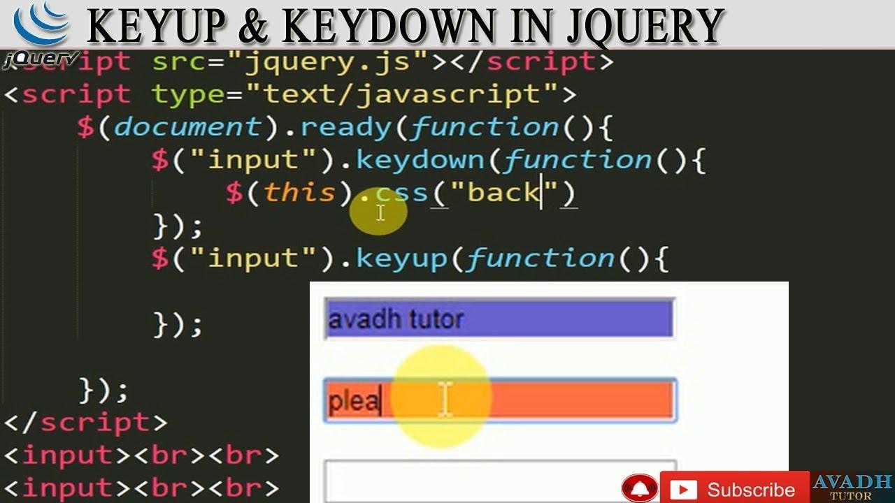 keyup event in jquery || keydown event jquery || stylish input field using  jquery