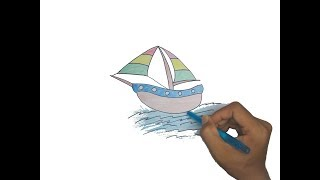 How to Draw a Boat Step by Step Easy