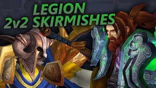 2v2 Arena Skirmishes Prot Warrior & Ret Paladin - WoW Legion PvP Gameplay