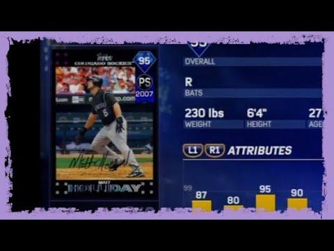 Colorado Rockies Team Epic + 95 OVR Matt Holliday Unlocked!! What A Sweet Card!!  MLB the Show 17