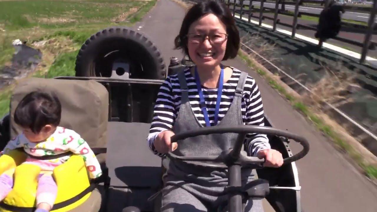 危うい魅力?!古すぎる三菱ジープに0歳児を初乗車させてみる。
